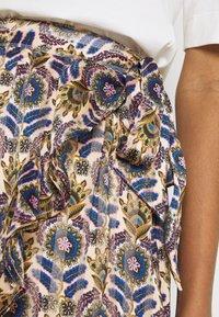 Scotch & Soda - PRINTED WRAP OVER SKIRT - Mini skirt - combo - 5