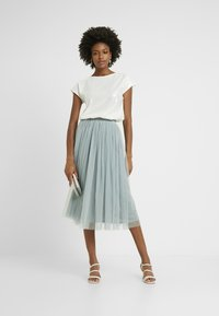 Lace & Beads Tall - VAL SKIRT - A-Linien-Rock - teal - 1