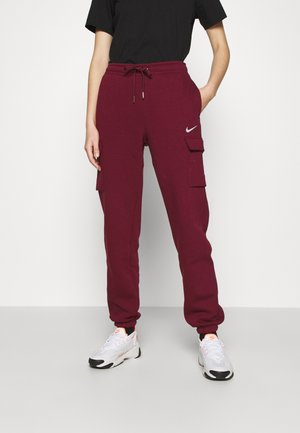 CARGO PANT LOOSE - Tracksuit bottoms - dark beetroot