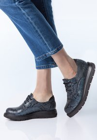 TJ Collection - DERBIES - Casual lace-ups - dark blue - 1
