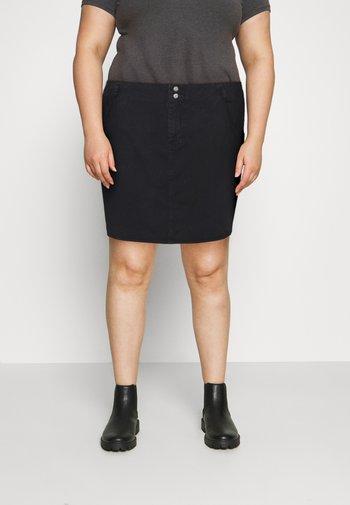 NMASHLEY SHORT SKIRT - Minifalda - black denim