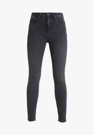 SCARLETT HIGH - Jeans Skinny Fit - black bucklin