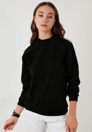 HIGH COLLAR BASIC SWEATSHIRT - Sweatshirt - black