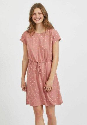 VIMOONEY STRING DRESS - Vestito di maglina - old rose