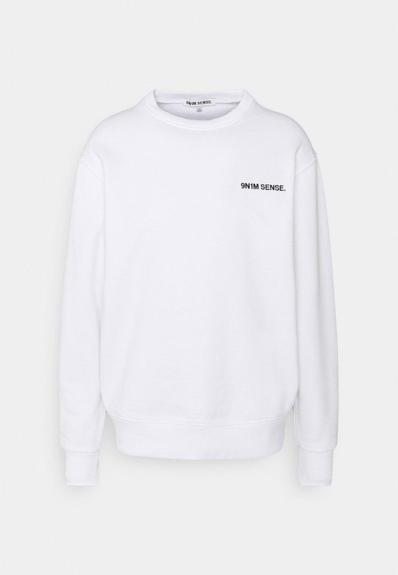 9N1M SENSE - LOGO UNISEX - Sweatshirt - white