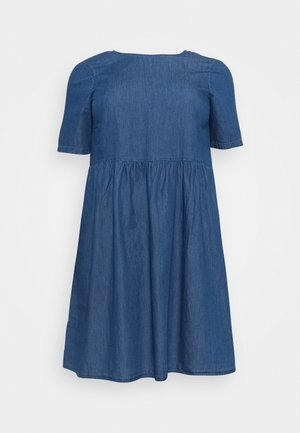 PCLIVA DRESS - Denim dress - medium blue denim