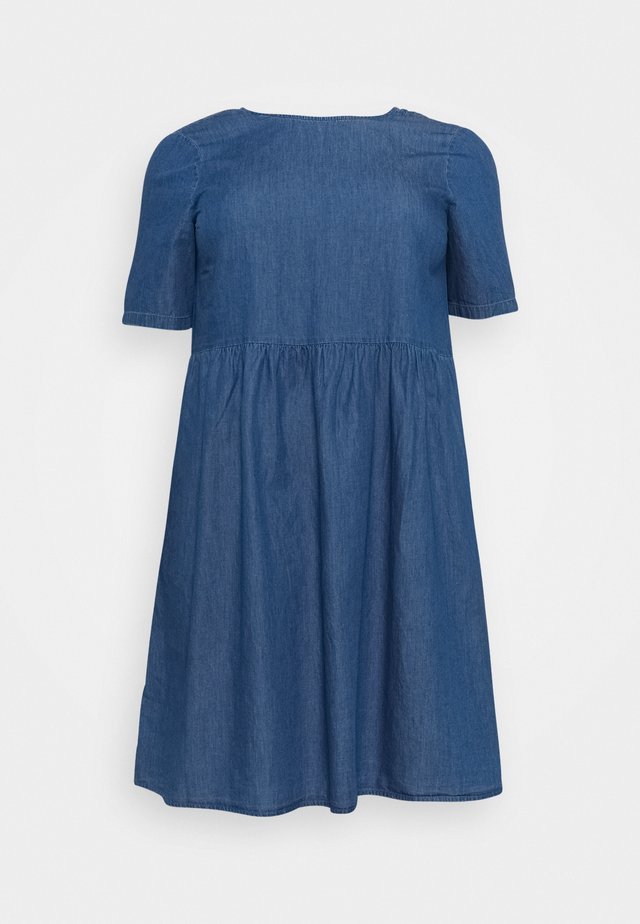 PCLIVA DRESS - Denim dress - medium blue denim