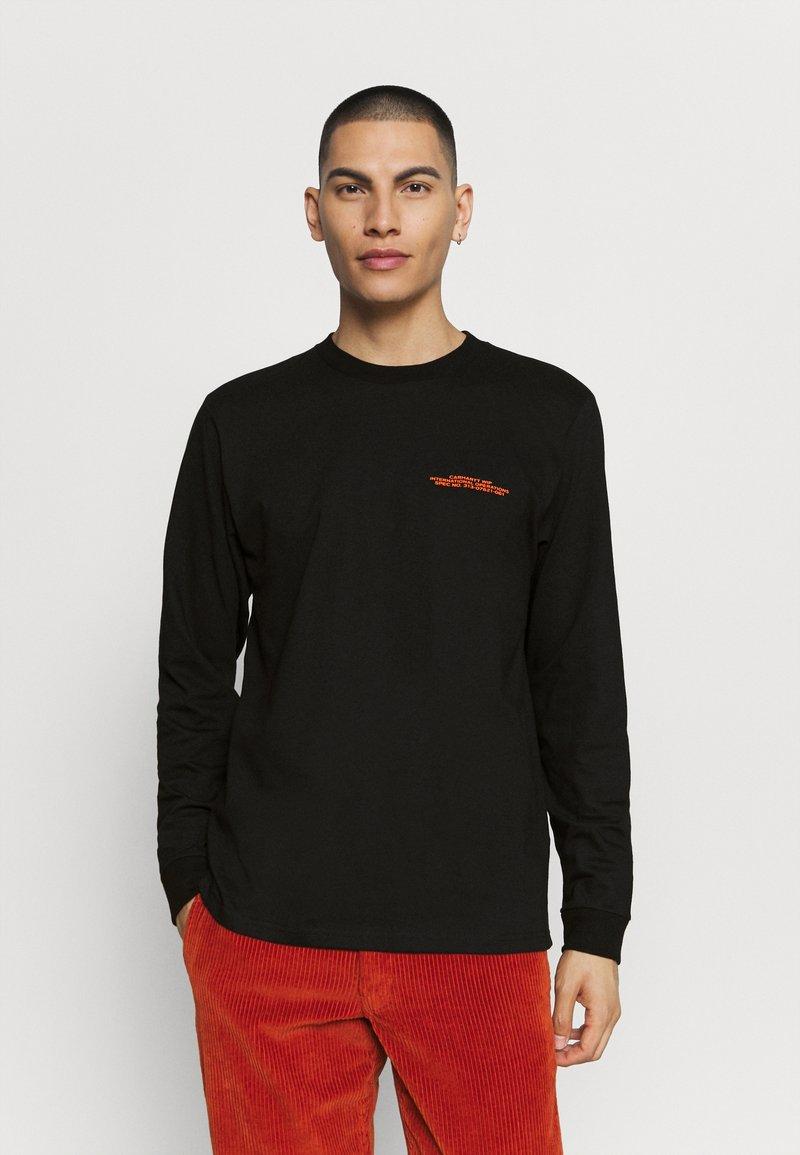 Carhartt WIP - INTERNATIONAL OPERATIONS  - Long sleeved top - black/orange