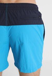 Urban Classics - BLOCK - Swimming shorts - navy/turquoise - 1
