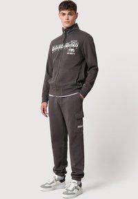 Napapijri - Zip-up sweatshirt - dark grey solid - 1