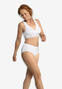 Carriwell - CROSSOVER SLEEPING & NURSING BRA ORGANIC - Bustier - white - 1