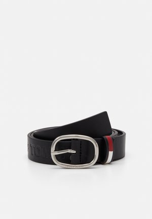 FLAG INLAY EMBOSS BELT - Pasek - black