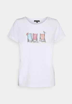 1/2 SLEEVE - T-shirts med print - white