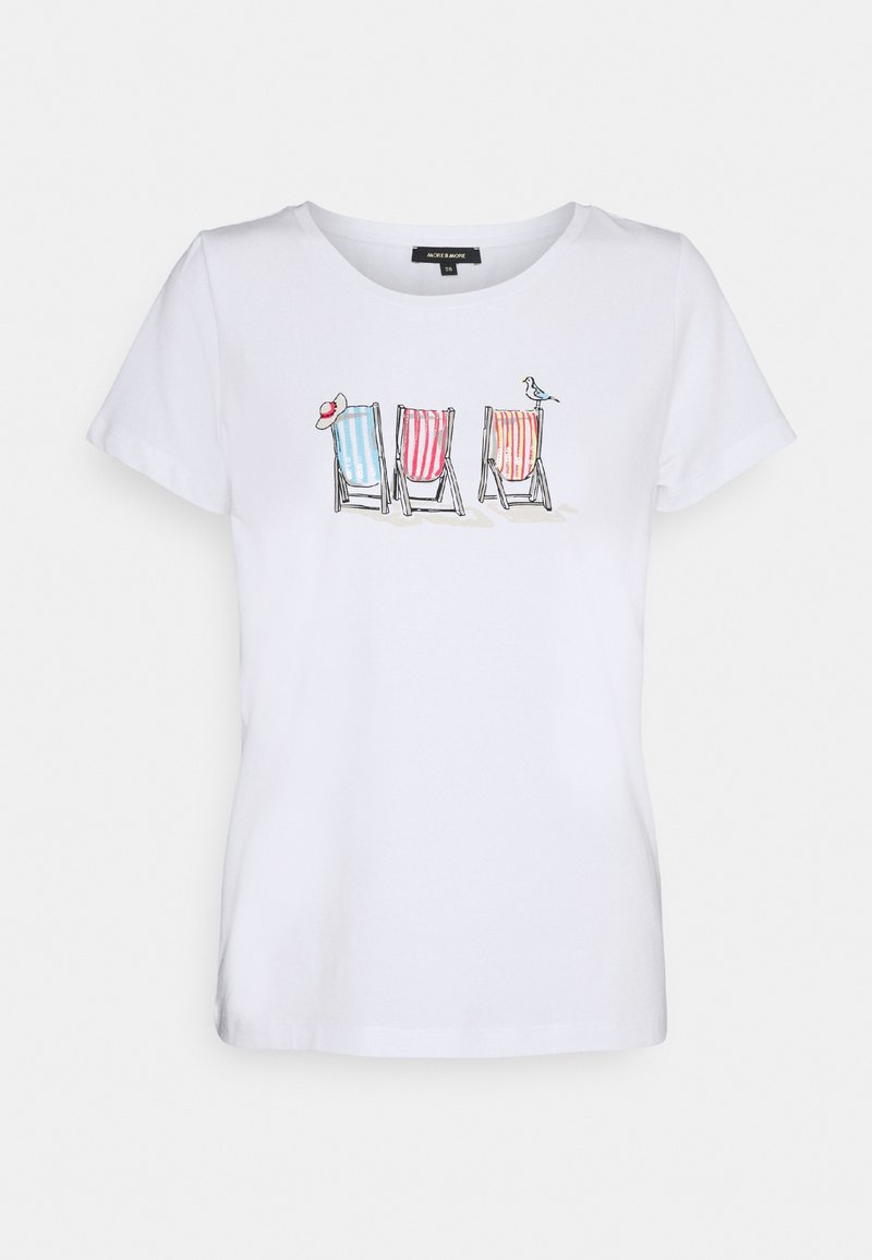 More & More - 1/2 SLEEVE - Print T-shirt - white