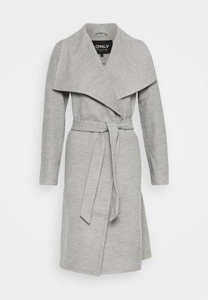 ONLNEWPHOEBE DRAPY COAT - Płaszcz wełniany /Płaszcz klasyczny - light grey melange