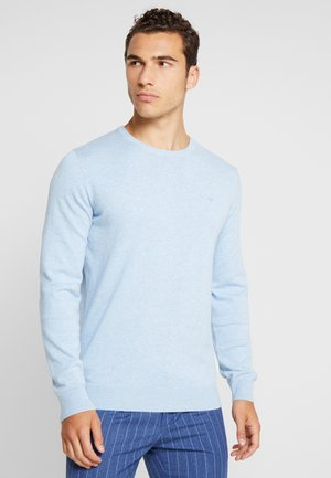 BASIC CREW NECK - Stickad tröja - daylight blue melange