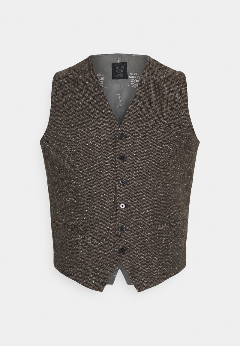 Shelby & Sons - PERRY WAISTCOAT PLUS - Waistcoat - brown