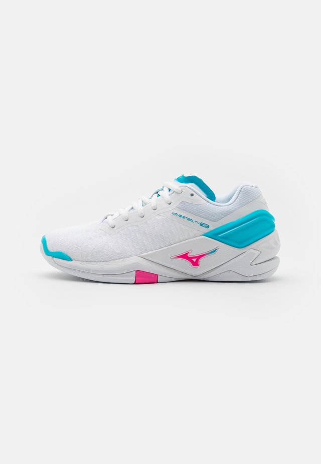 WAVE NEO - Handball shoes - white/pink glo/blue atoll