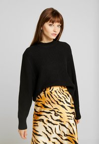 Monki - AGATA BASIC - Jumper - black dark - 0
