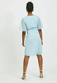 Vila - VIRILLA 2/4 SLEEVE DRESS - Vestito elegante - cashmere blue - 2