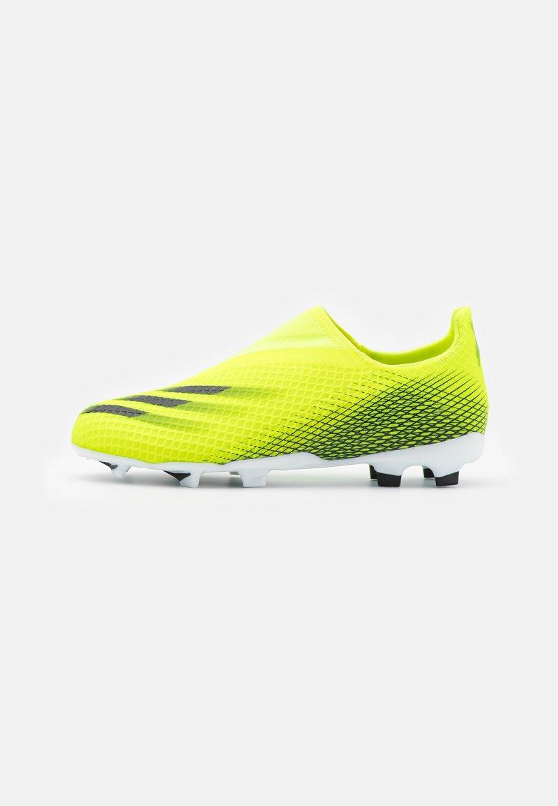 adidas Performance - X GHOSTED.3 LL FG UNISEX - Tekonurmikengät - solar yellow/core black/royal blue