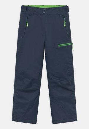 HALLINGDAL UNISEX - Snow pants - navy/bright green
