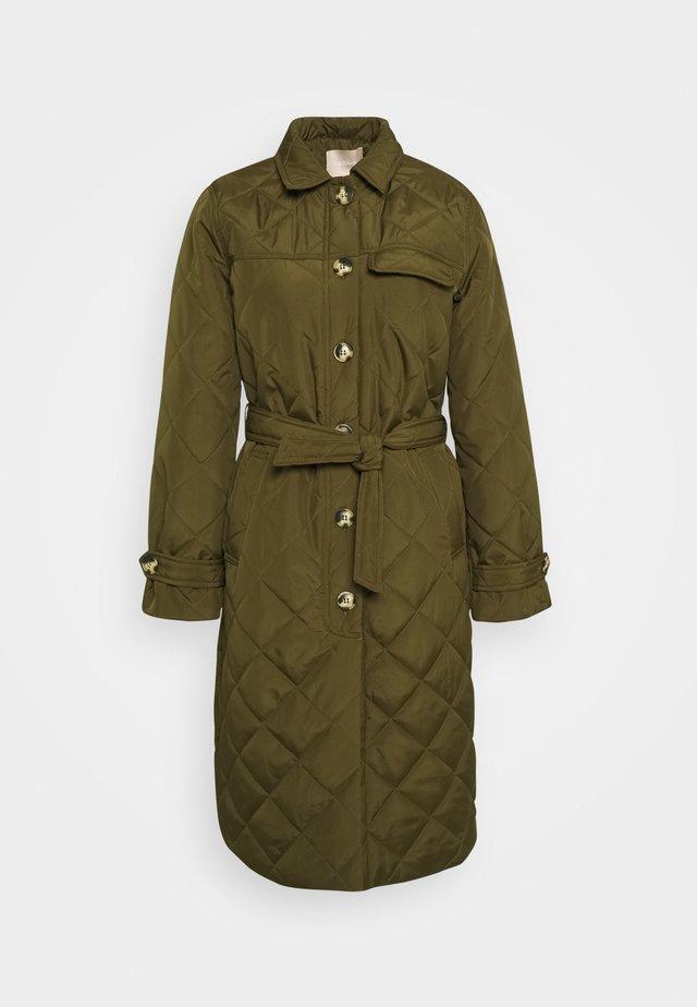 SRSTINNA QUILT COAT - Classic coat - dark olive