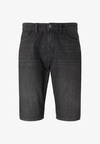 TOM TAILOR - JEANSHOSEN JOSH REGULAR SLIM JEANS-SHORTS IN VINTAGE-WASHUNG - Jeansshorts - black stone wash denim - 6