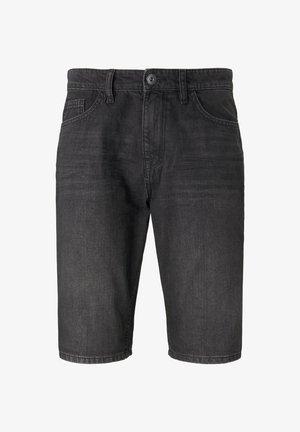 JEANSHOSEN JOSH REGULAR SLIM JEANS-SHORTS IN VINTAGE-WASHUNG - Denim shorts - black stone wash denim