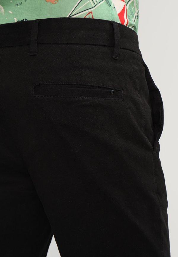 AllSaints PARK - Chinosy - black/czarny Odzież Męska JLHE