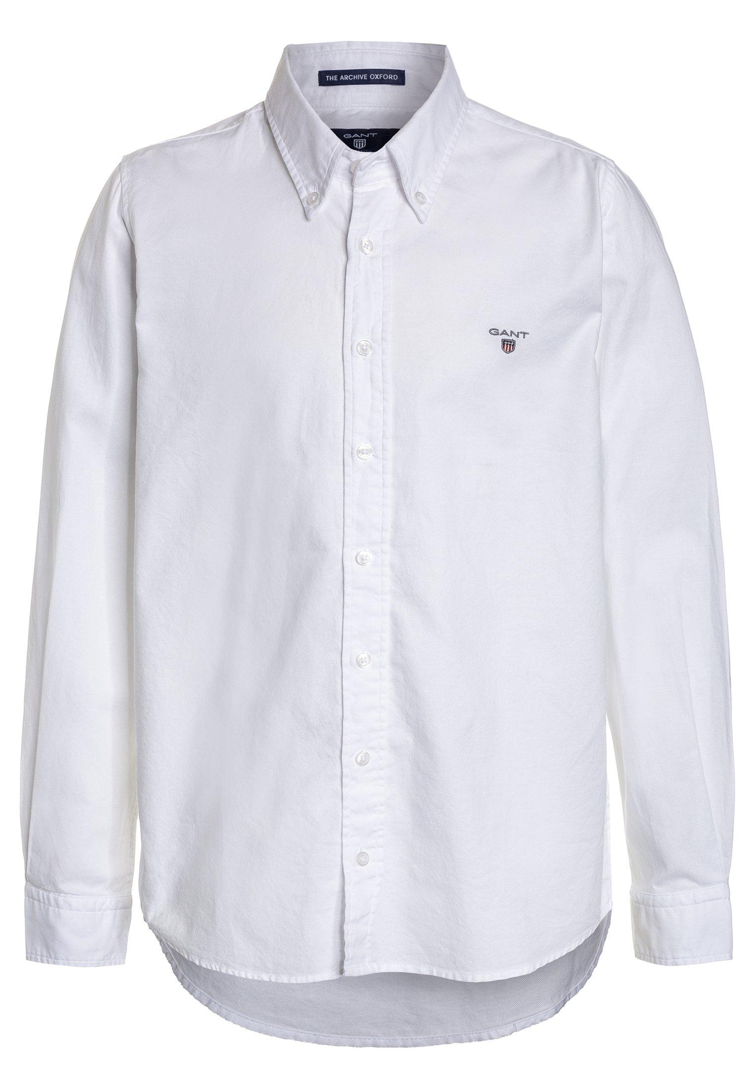 GANT THE OXFORD Skjorte white Zalando.no