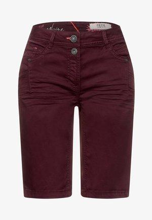 Denim shorts - rot