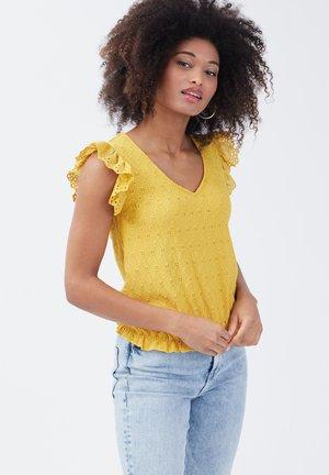 Blouse - jaune moutarde