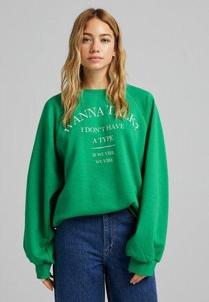 OVERSIZE - Bluza - green