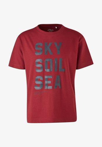 Print T-shirt - bordeaux sky print