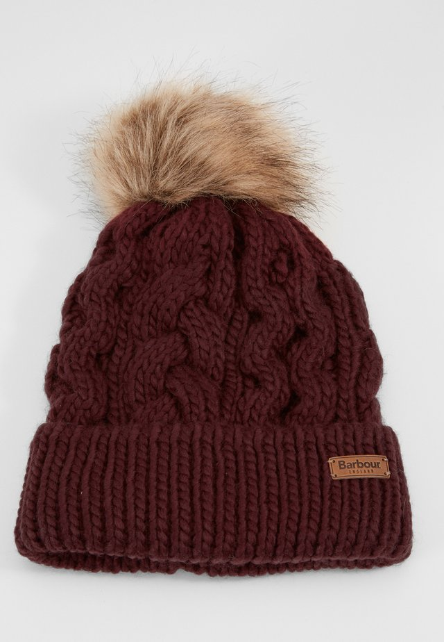 PENSHAW CABLE BEANIE - Bonnet - bordeaux