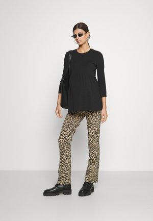 OLMSANDRA LIFE 2-PACK - Leggings - Trousers - black/zebra dark shadow