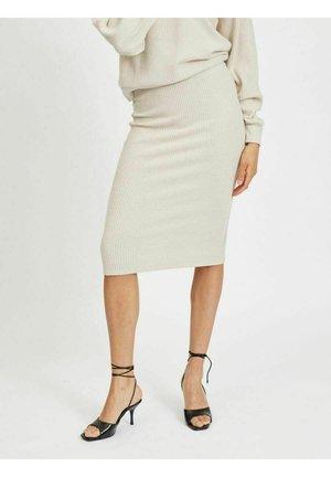 BLEISTIFTROCK   - Pencil skirt - super light natural mel