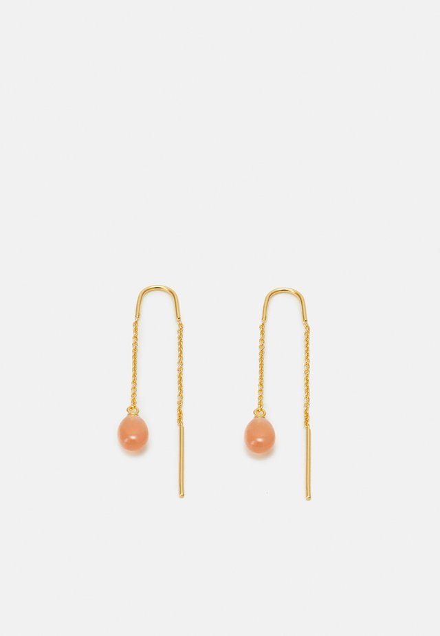 LUNA DROPLET EARRINGS - Korvakorut - peach