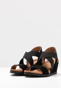 Bianco - BIACAILY CROSS  - Wedge sandals - black - 4