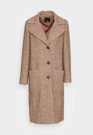 Classic coat - nuss/creme