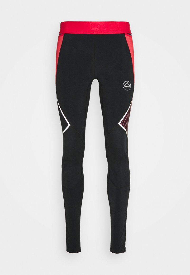 La Sportiva - PIRR PANT  - Leggings - black/hibiscus
