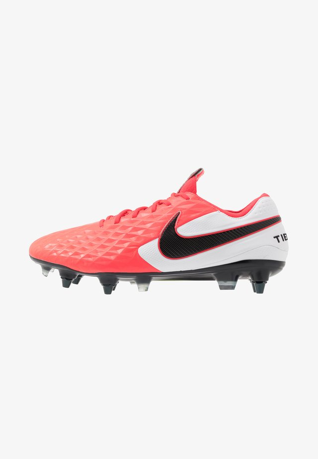 TIEMPO LEGEND 8 ELITE SG-PRO AC - Screw-in stud football boots - laser crimson/black/white