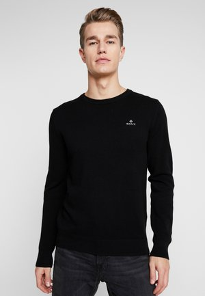 C NECK - Jumper - black