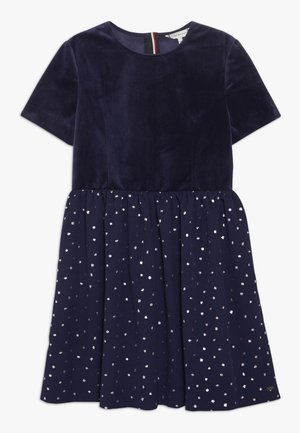 PRINTED COMBI DRESS - Vestido de cóctel - blue