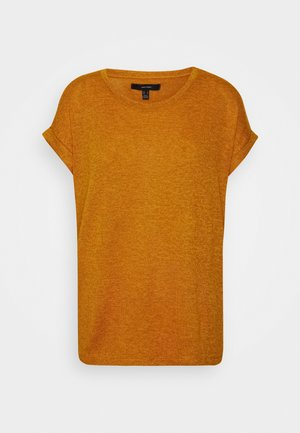 VMBRIANNA O-NECK  - T-shirt basic - buckthorn brown/sunflower