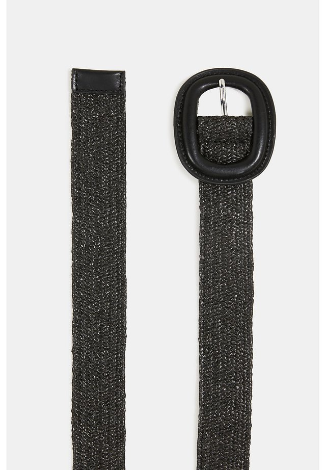 STRAW BELT - Belt - black