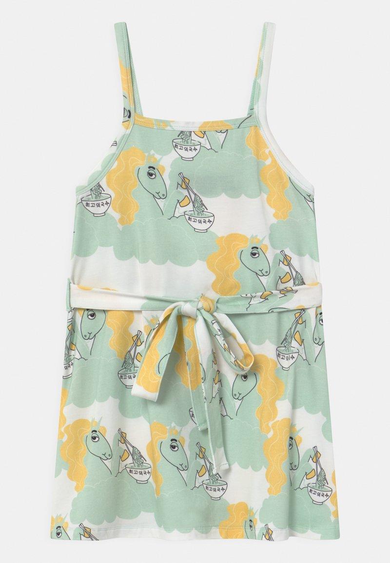 Mini Rodini - UNICORN NOODLES  - Žerzejové šaty - green