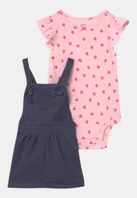 Carter's - SHORTALL SET - T-shirt imprimé - blue - 0