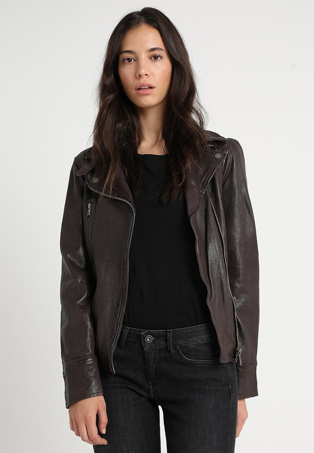 VIDEO - Leather jacket - brown